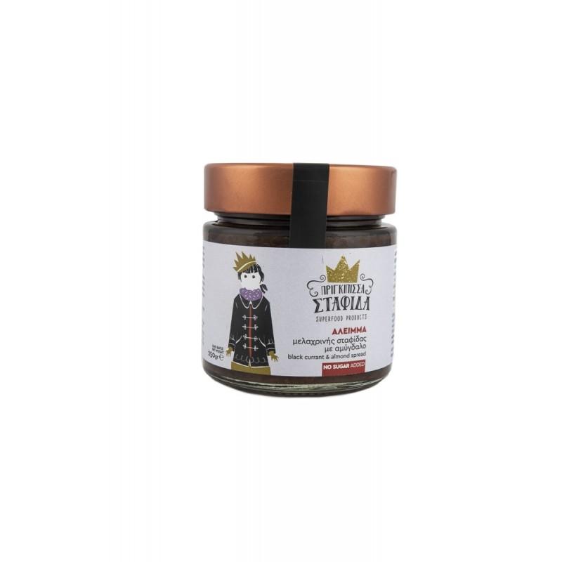 Άλειμμα μελαχρινής Κορινθιακής σταφίδας με αμύγδαλο χωρίς ζάχαρη 250gr