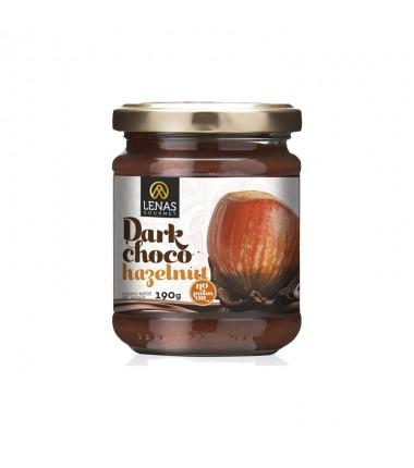 Σοκολάτα Μαύρη με Φουντούκι χωρίς γλουτένη ''Lenas Gourmet'' 190γρ