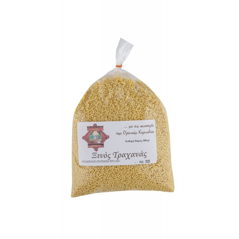 Ξινός τραχανάς με τις συνταγές Ορεινής Κορινθίας 500γρ