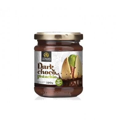 Σοκολάτα Μαύρη με Φιστίκι χωρίς γλουτένη ''Lenas Gourmet'' 190γρ