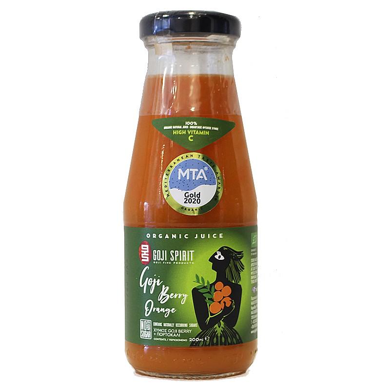 Χυμός 100% Φυσικός Βιολογικός με Goji Berry & Πορτοκάλι 200ml