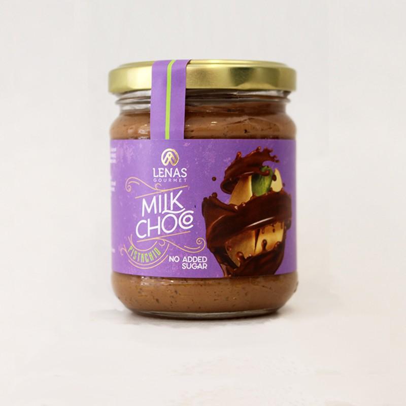 Άλειμμα Σοκολάτας Γάλακτος & Φιστίκι Αιγίνης χωρίς ζάχαρη 190γρ