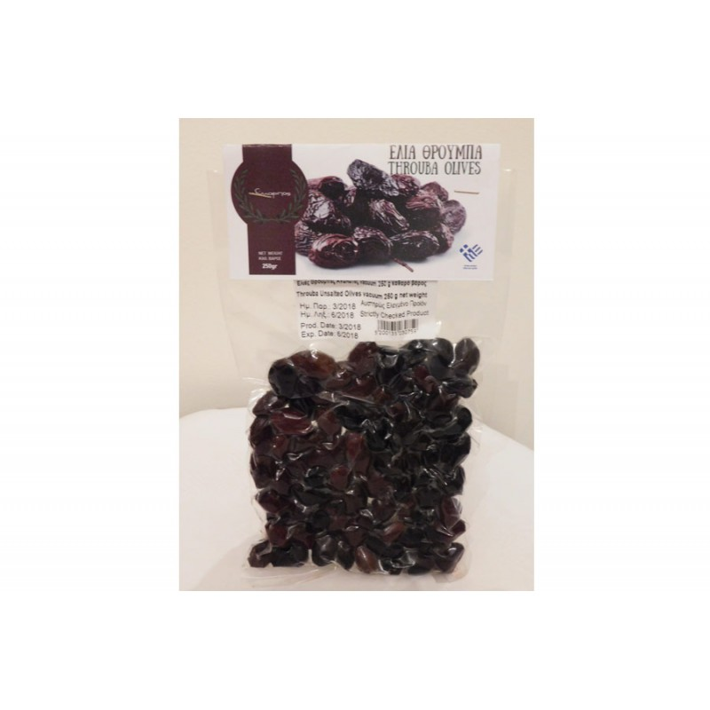 Edible unsalted black olives from Amfissa 500gr