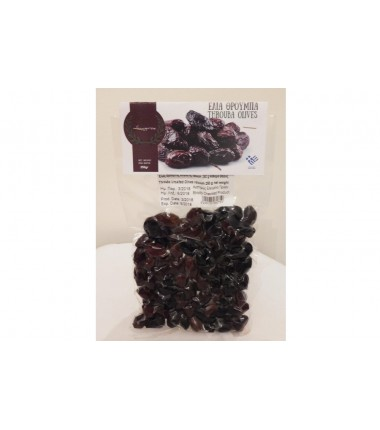 Edible unsalted black olives from Amfissa 250gr